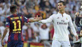 Cuộc chạy đua thành tích giữa hai siêu sao, Neymar và Ronaldo