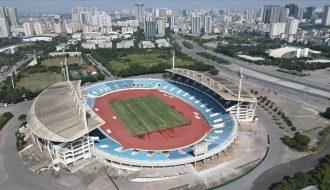 Trang hoàng sân vận động Mỹ Đình để đón SEA Games 2021